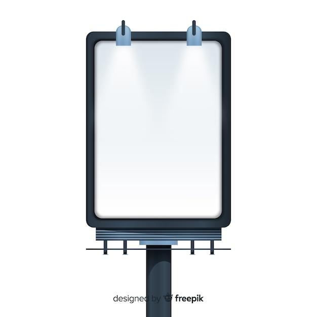 Panneau d'affichage vide réaliste Vecteur gratuit