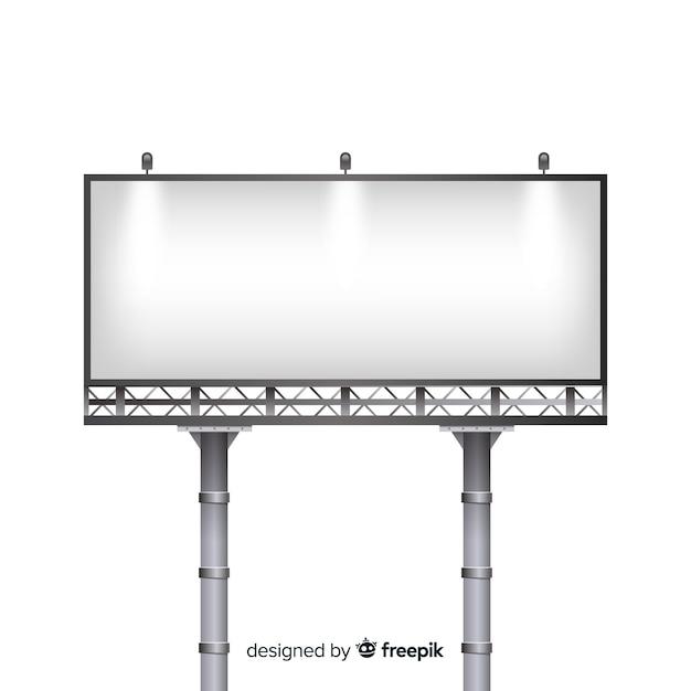 Panneau d'affichage Vecteur gratuit