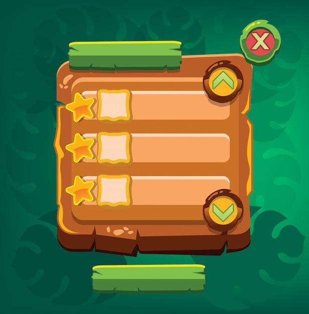 Panneau d'information sur le jeu. illustration vectorielle Vecteur Premium