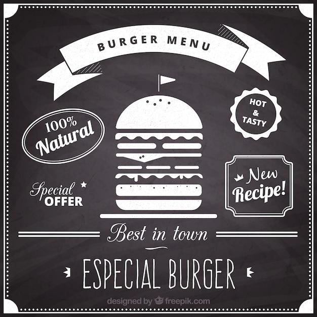 Panneau De Menu Hamburger Vecteur gratuit