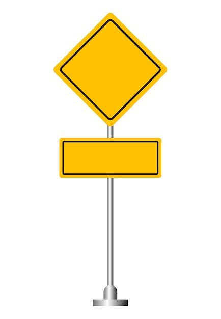 panneau de signalisation jaune blanc t l charger des vecteurs premium