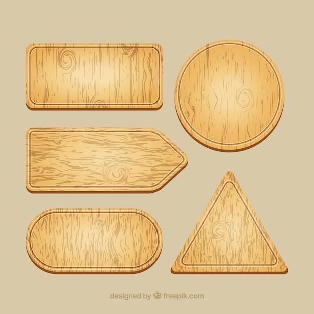 panneaux de signalisation en bois emballent t l charger des vecteurs gratuitement. Black Bedroom Furniture Sets. Home Design Ideas