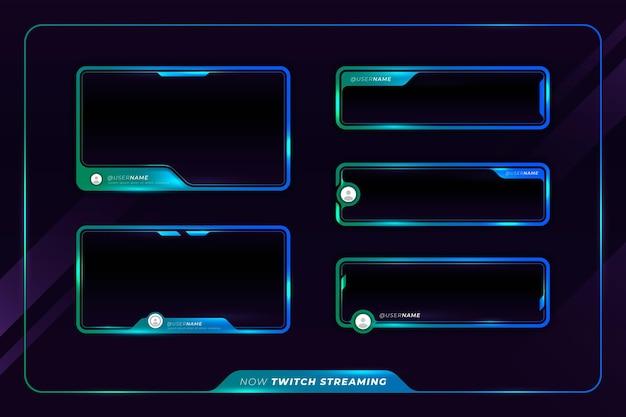 Panneaux De Flux Twitch Vecteur gratuit
