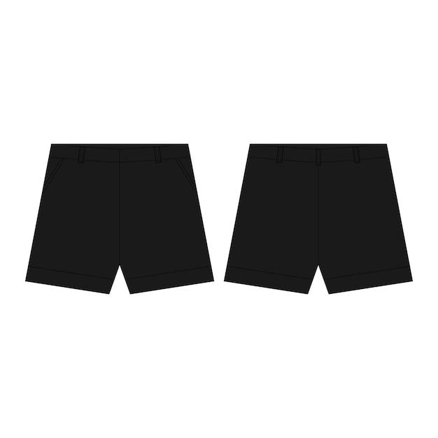 Pantalon De Sport Noir Pantalon Isolé. L'usure De L'homme. Vecteur Premium