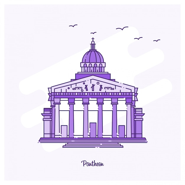 Panthéon Vecteur Premium