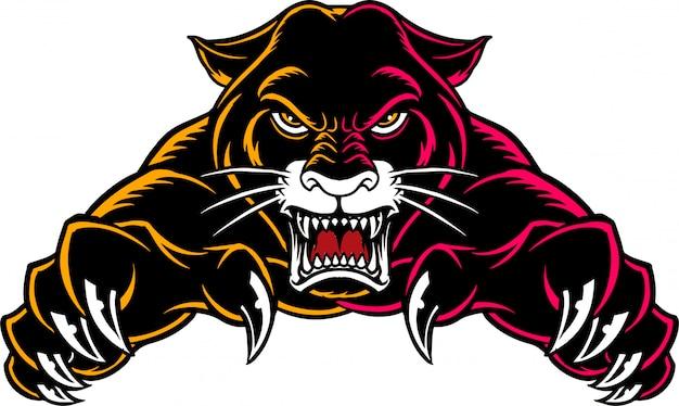 Panther front Vecteur Premium