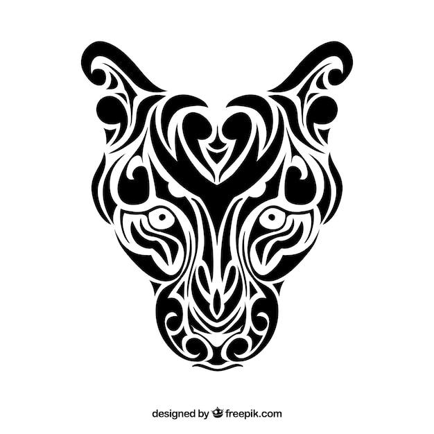 Panthera tribal vecteur Vecteur gratuit