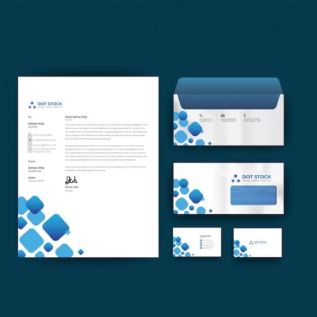 Papeterie De Modèle De Vecteur De Conception D'identité D'entreprise Vecteur Premium