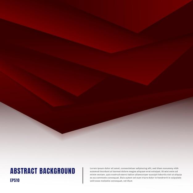 Papier abstrait art style fond rouge Vecteur Premium
