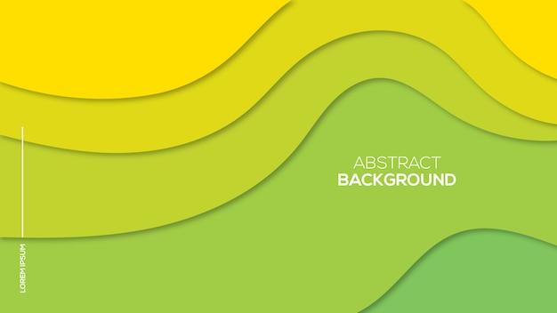 Papier abstrait coupe fond 3d Vecteur Premium