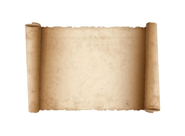 Papier Ancien Défilement Horizontal Vecteur Premium