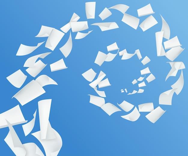 Papier bleu réaliste Vecteur gratuit