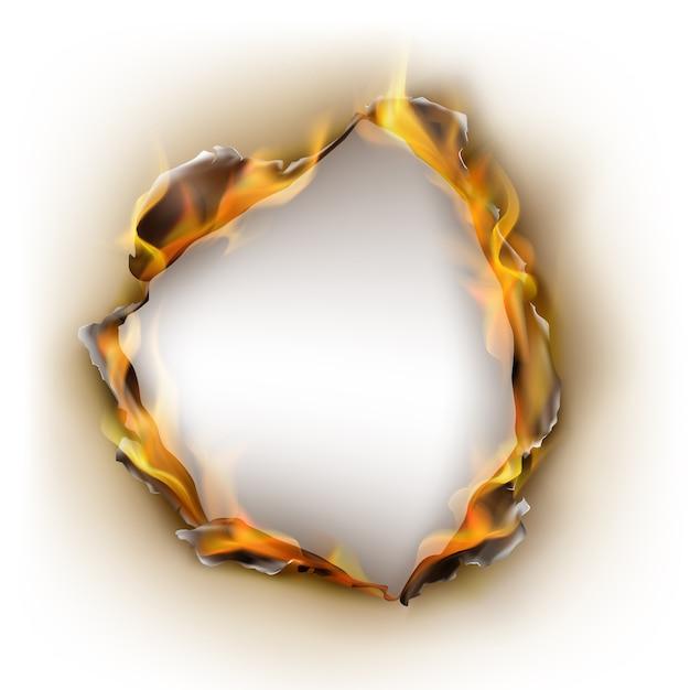 Papier brûlé réaliste Vecteur gratuit
