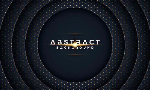 Papier de cercle noir coupé fond. 3d abstrait moderne Vecteur Premium