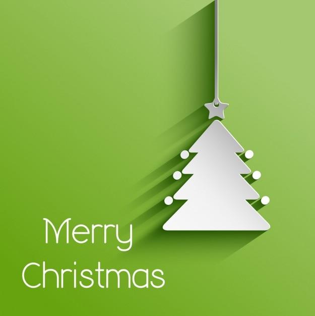 Papier de Noël d'arbre fond Vecteur gratuit