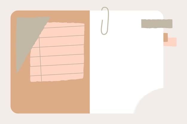 Papier déchiré dans un cahier Vecteur gratuit