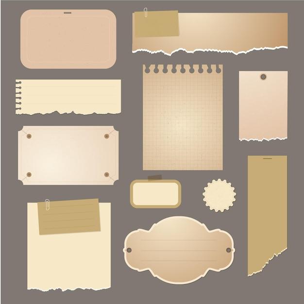 Papier Déchiré Avec Paquet De Papier Vecteur Premium
