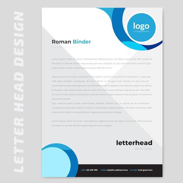 Papier à lettre abstrait Vecteur Premium