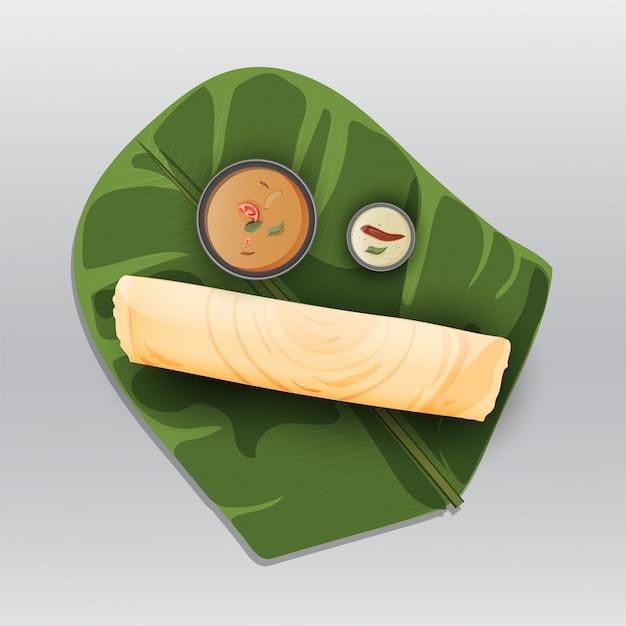 Papier masala dosa Vecteur Premium
