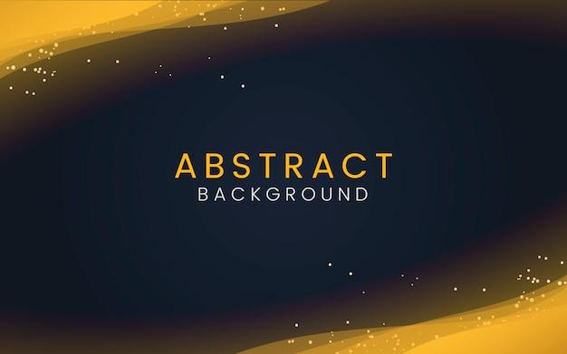 Papier peint abstrait avec des particules de paillettes d'or décoratives Vecteur gratuit