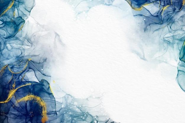 Papier Peint Aquarelle Aux Accents Dorés Luxueux Vecteur gratuit