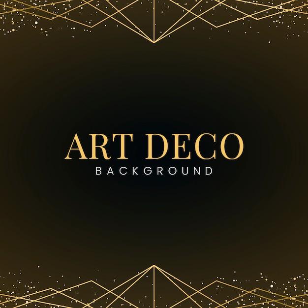 Papier peint art déco minimal avec des paillettes d'or décoratives Vecteur gratuit