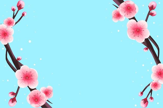 Papier Peint Fleurs Aquarelle Aux Couleurs Pastel Vecteur gratuit