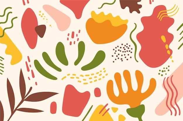 Papier Peint Formes Organiques Abstraites Vecteur gratuit