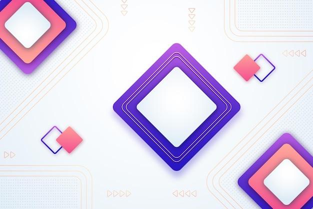 Papier Peint Géométrique Dégradé Vecteur gratuit