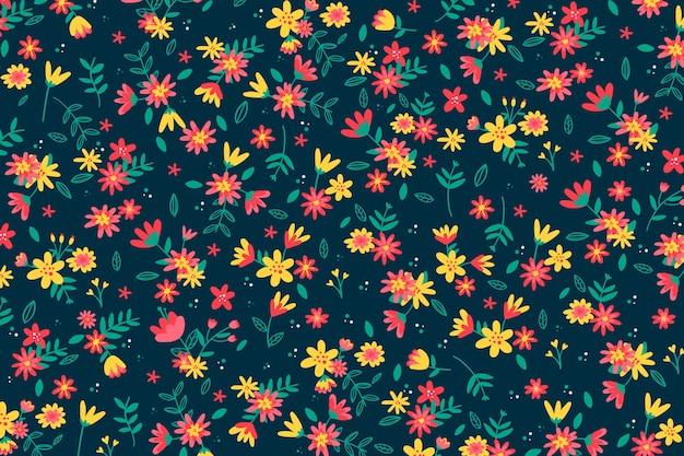 Papier Peint Imprimé Floral Coloré Ditsy Vecteur gratuit