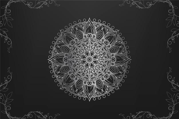 Papier Peint De Luxe Mandala Vecteur gratuit