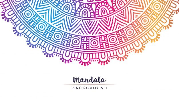 Papier peint avec motif mandala. Vecteur gratuit