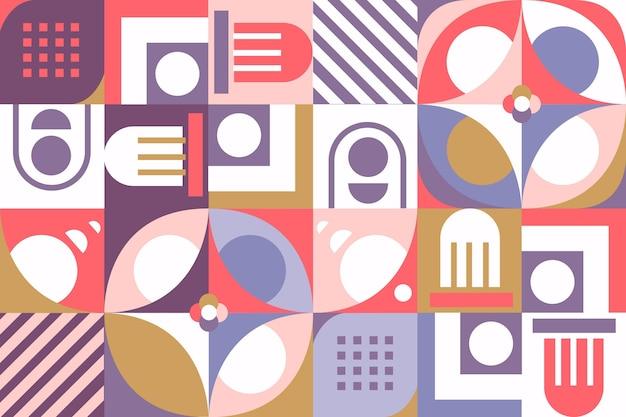 Papier Peint Mural Géométrique Aux Formes Variées Vecteur gratuit