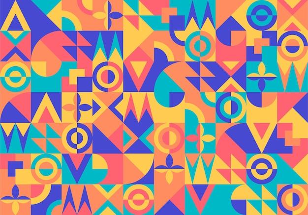 Papier Peint Mural Géométrique Vecteur Premium
