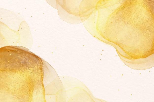 Papier Peint Peinture Aquarelle Dorée Vecteur Premium