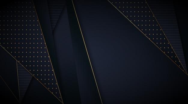 Papier Peint Sombre élégant Avec Des Lignes Dorées Vecteur gratuit
