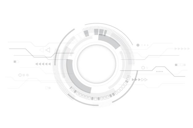 Papier Peint à Technologie Blanche Moderne Vecteur gratuit