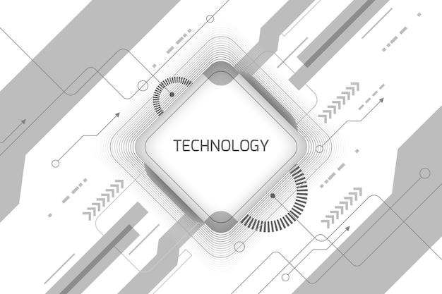 Papier Peint à Technologie Blanche Vecteur gratuit