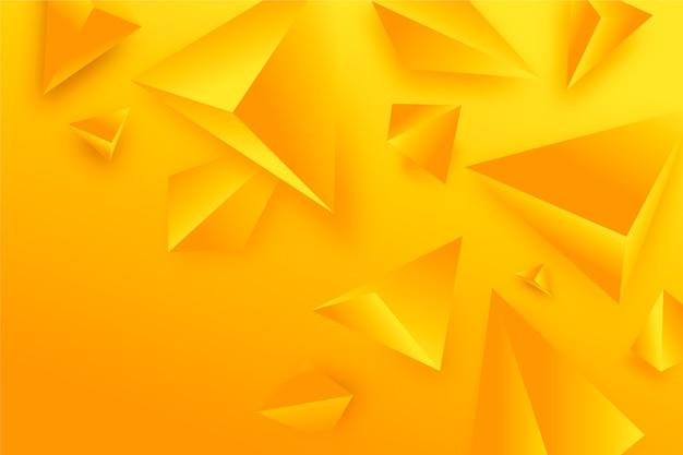 Papier peint triangle 3d aux couleurs vives Vecteur gratuit