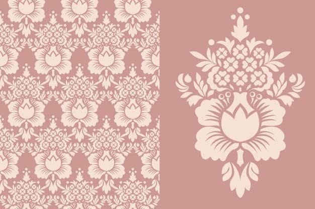 Papier Peint Vintage Sans Soudure. Vieux Modèle Royal. Vecteur Premium