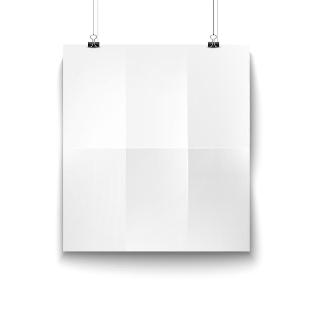 Papier à Suspendre Blanc Blanc Vecteur Premium