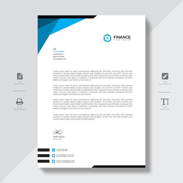 Papier à en-tête moderne Vecteur Premium