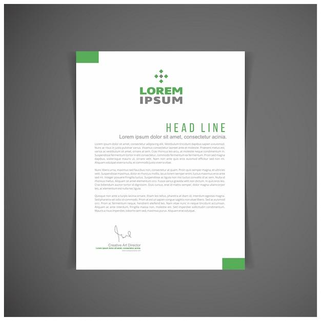 Papier à en-tête vert Vecteur gratuit