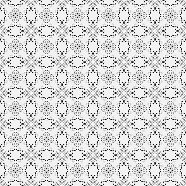 Papiers Peints Floraux Sans Soudure Dans Le Style Baroque. Peut être Utilisé Pour Les Arrière-plans Et La Conception Web De Remplissage De Page. Vecteur Premium