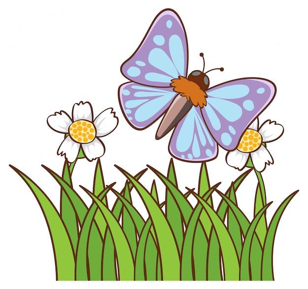 Papillon Bleu Vecteur gratuit