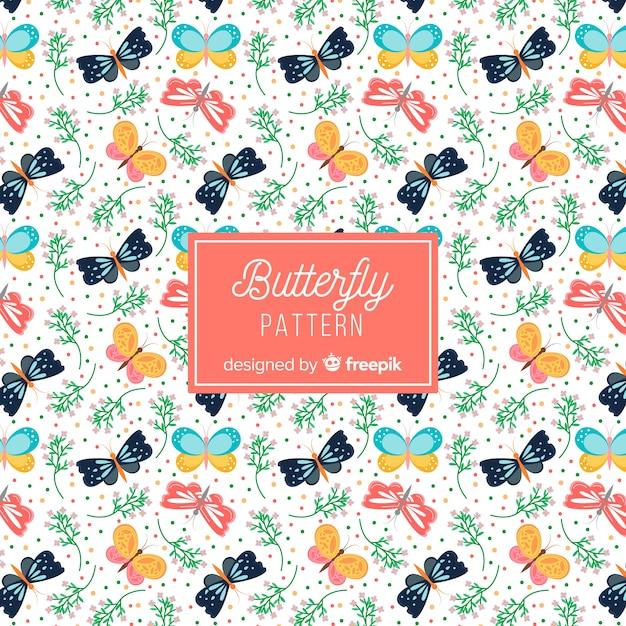 Papillons Volant à Fond Vecteur gratuit