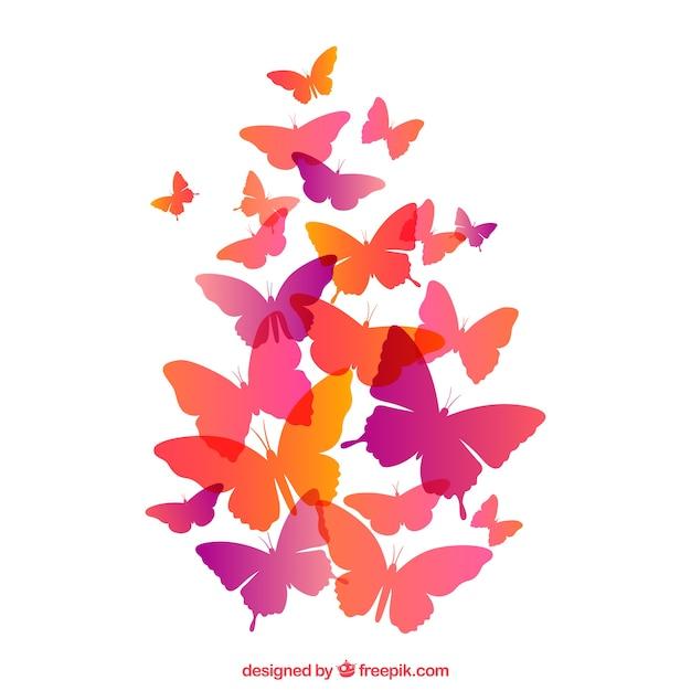 papillons volant t l charger des vecteurs gratuitement. Black Bedroom Furniture Sets. Home Design Ideas
