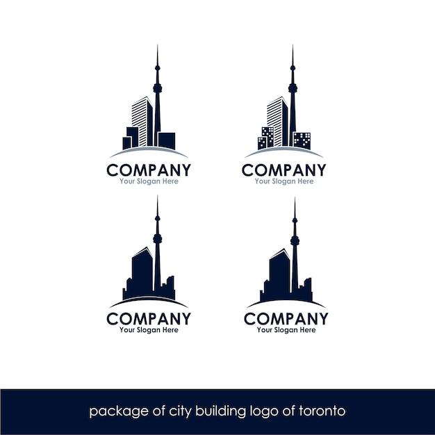 Paquet De Construction De La Ville Logo De Toronto Vecteur Premium