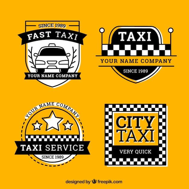 paquet d 39 tiquettes de taxi t l charger des vecteurs gratuitement. Black Bedroom Furniture Sets. Home Design Ideas