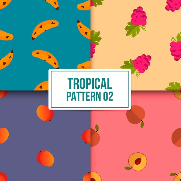 Paquet motif tropical Vecteur Premium